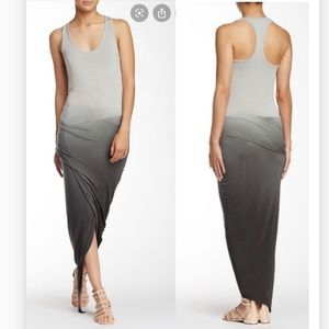 Young fabulous broke sassy ombre Grey maxi dress